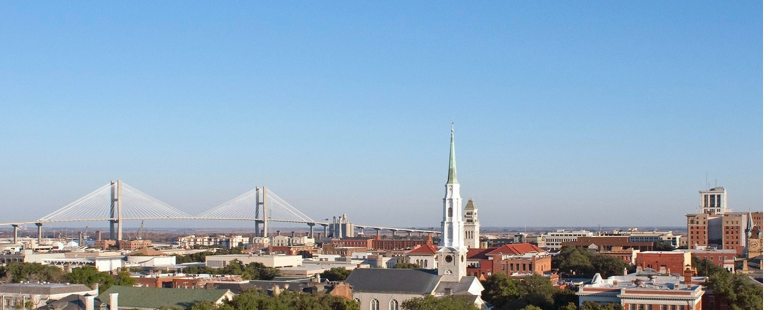 Enjoy the Beautiful Savannah Skyline and Blue Skies All January Long