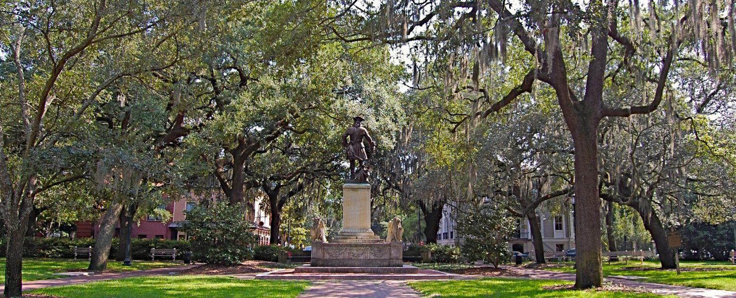 Chippewa Square in savannah, gerogia