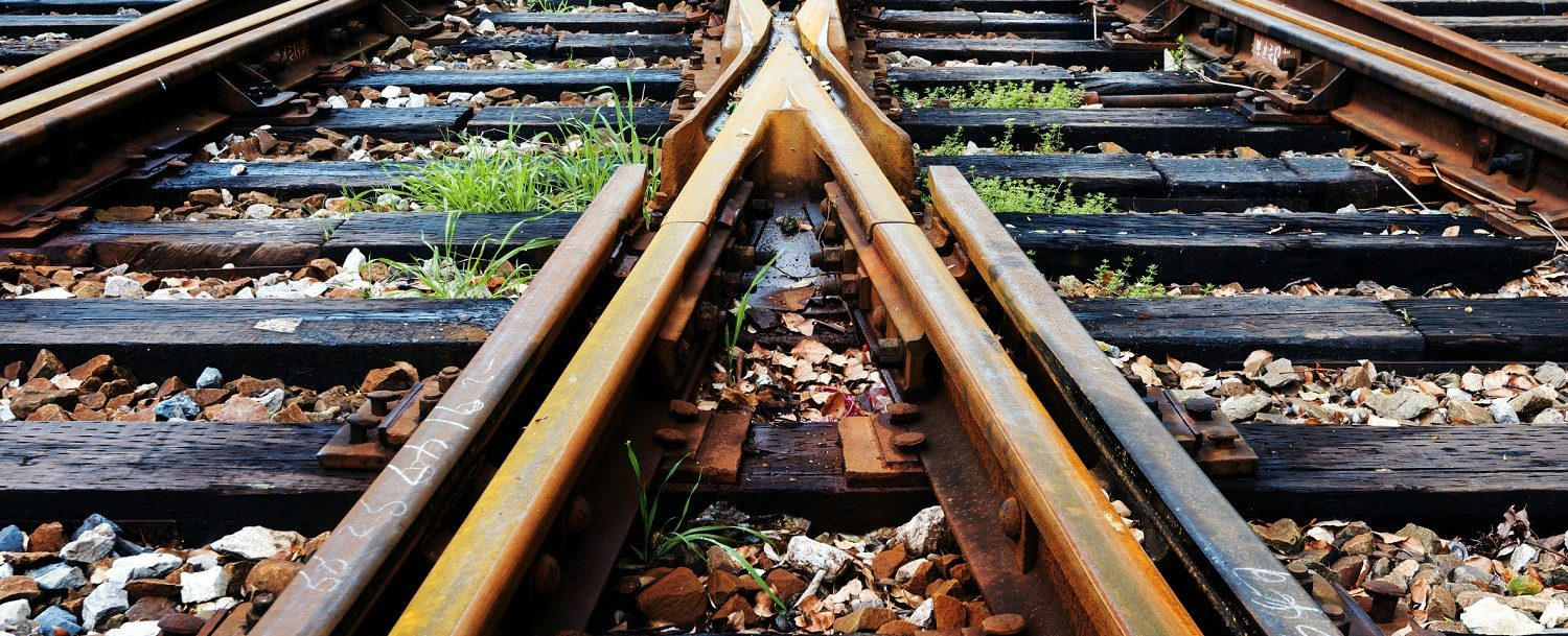 Railroad tracks at the Georgia State Railroad Museum