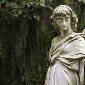 Angel Statue at Bonaventure Cemetery, as seen from the Midnight in the Garden of Good and Evil tour