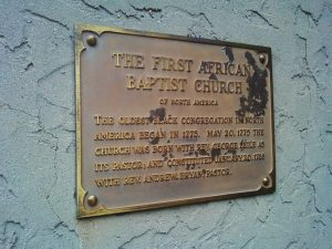 First African Baptist Church Savannah