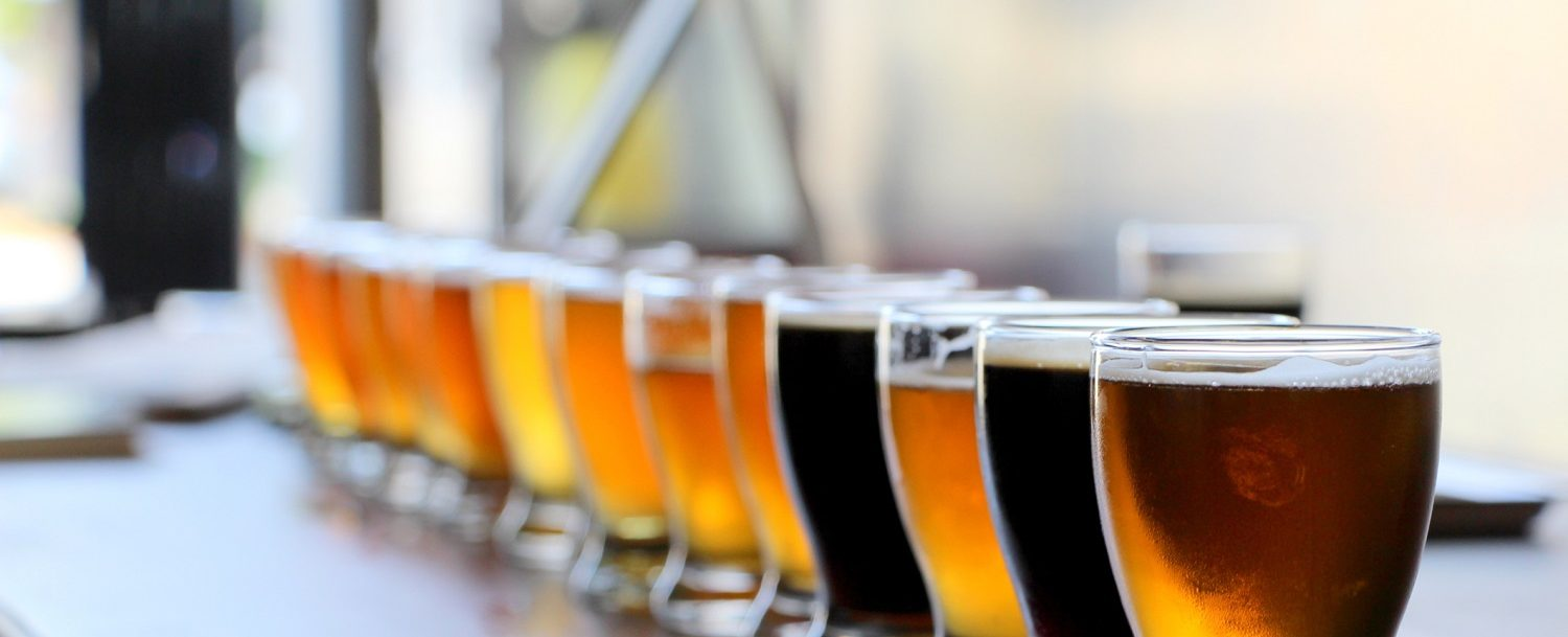 Beer flights at breweries in Savannah, GA
