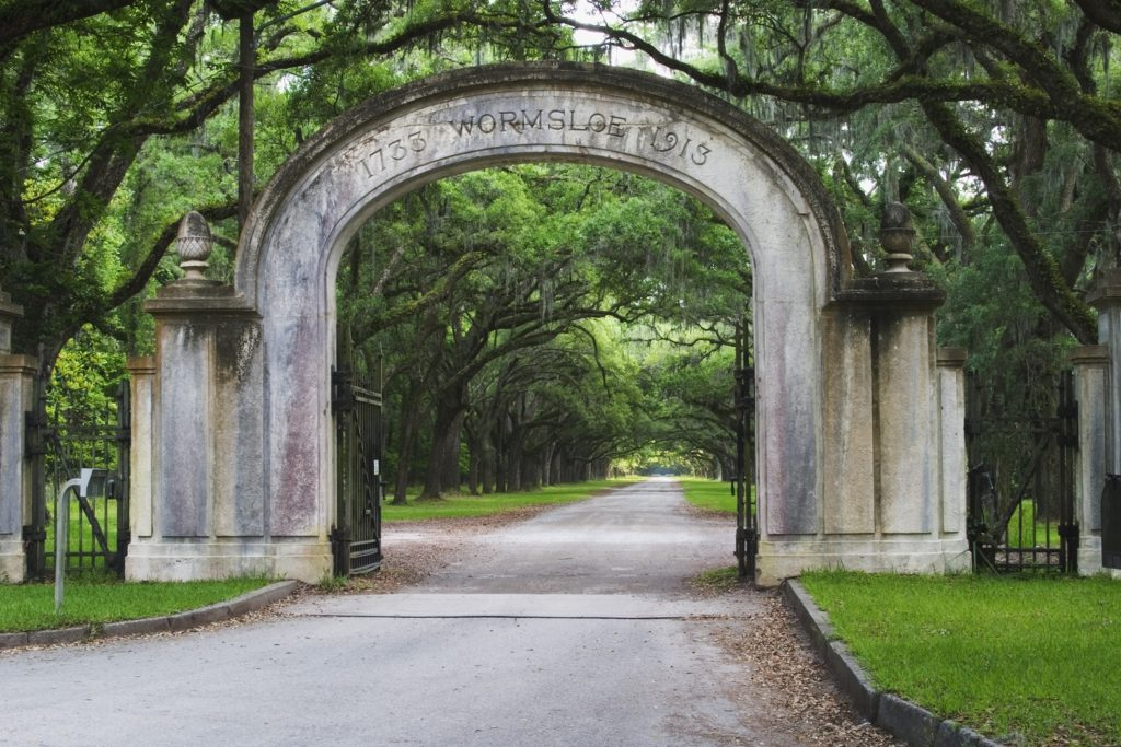 Entrance to the Wormsloe Historic Site