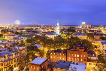 Savannah skyline at night - Sean Pavone - ThinkstockPhotos-536250143