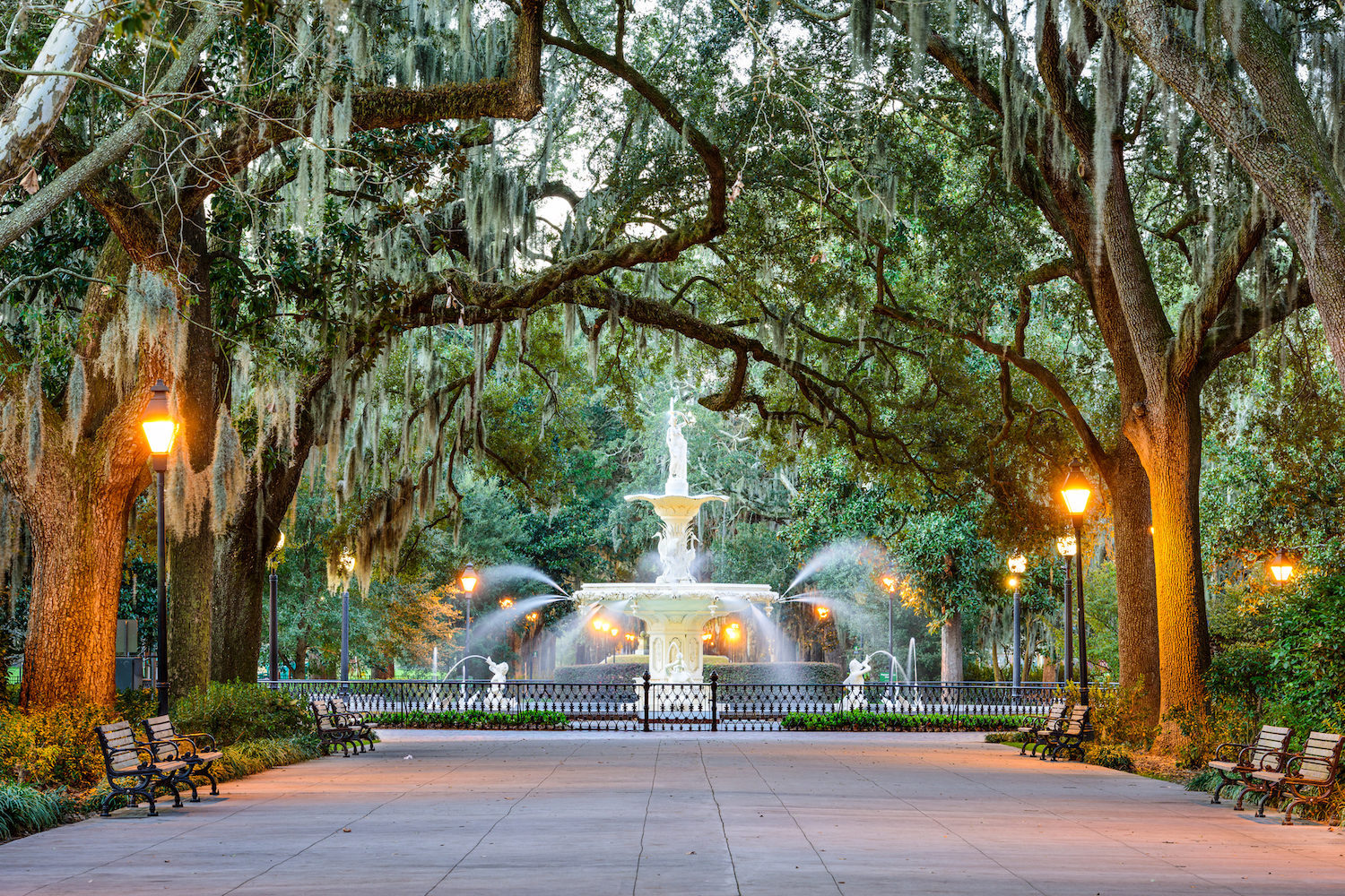 Iconic fountain in Forsyth Park
