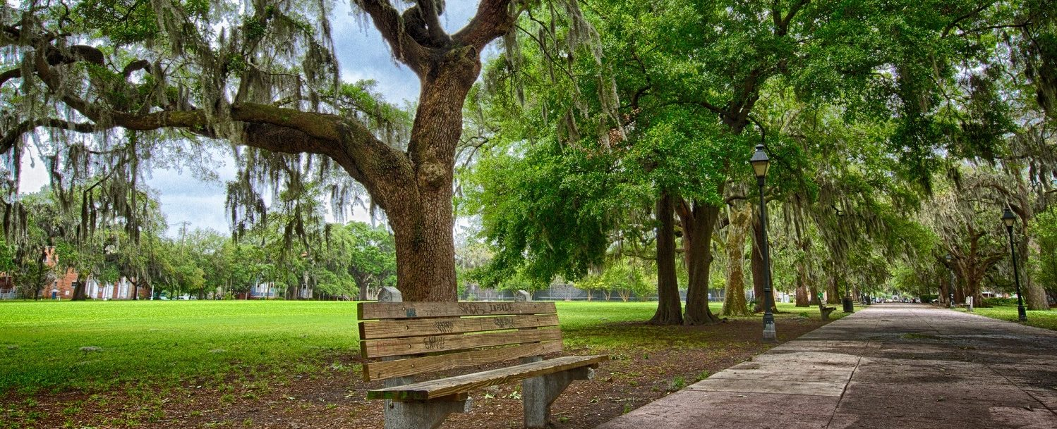 Forrest Gump bench in Savannah