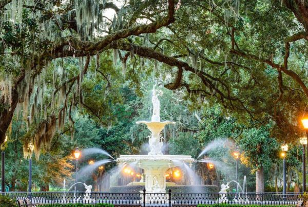 forsyth park water fountain